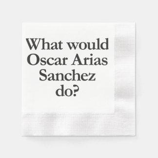 what would oscar arias sanchez do coined cocktail napkin