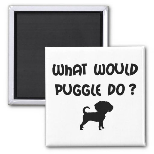 What Would Puggle Do? 2 Inch Square Magnet