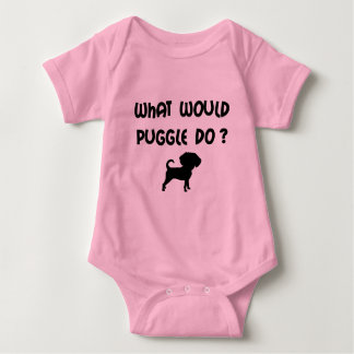 What Would Puggle Do? Baby Bodysuit