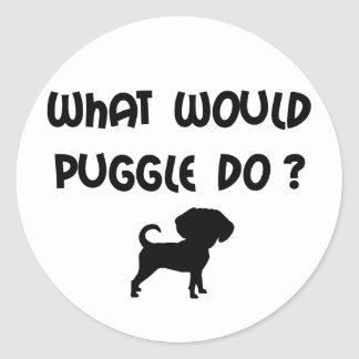 What Would Puggle Do? Classic Round Sticker