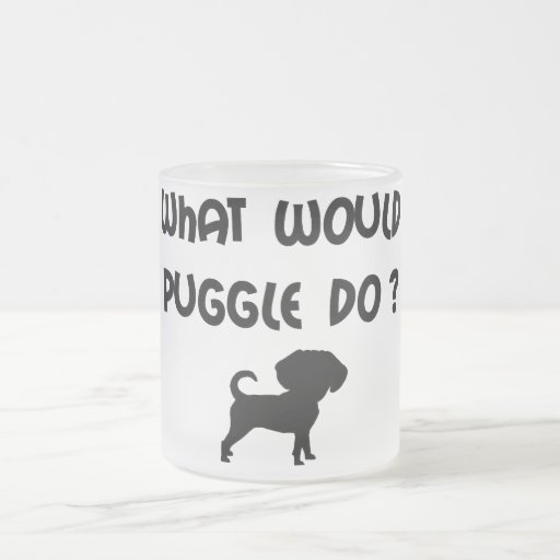 What Would Puggle Do? Frosted Glass Coffee Mug