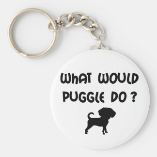 What Would Puggle Do? Keychain