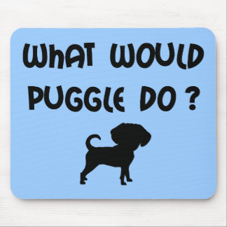 What Would Puggle Do? Mouse Pad