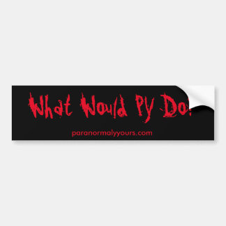 What Would PY Do? Bumper Sticker