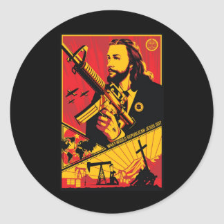 What Would Republican Jesus Do? Round Sticker