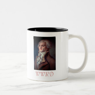 What Would Robespierre Do? Two-Tone Coffee Mug