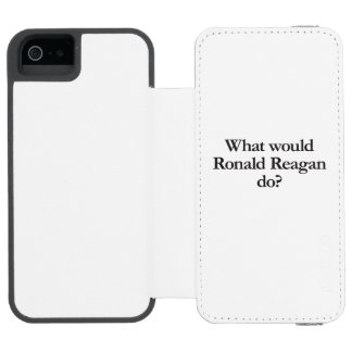 what would ronald reagan do iPhone SE/5/5s wallet case