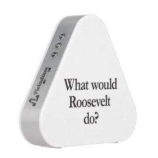 what would roosevelt do speaker