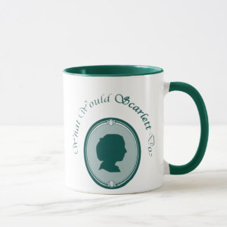 What Would Scarlett Do? Mug (Dark Teal)
