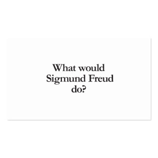 what would sigmund frued do Double-Sided standard business cards (Pack of 100)