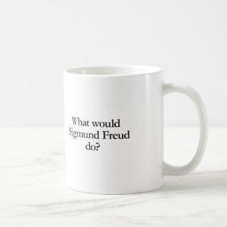what would sigmund frued do classic white coffee mug