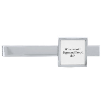 what would sigmund frued do silver finish tie clip