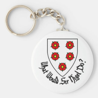 what_would_sir_nigel_do_arms keychain