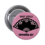 What would Sophronia do? Finishing School badge Button