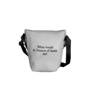 what would st francis of assisi do messenger bag
