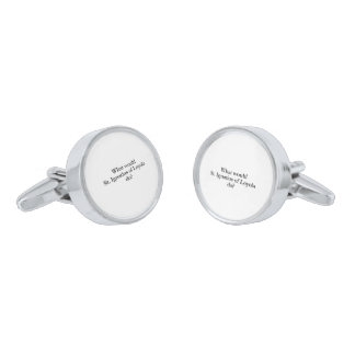 what would st ignatius of loyola do silver finish cuff links