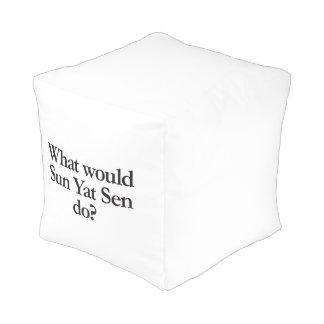 what would sun yat sen do cube pouf