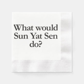 what would sun yat sen do coined cocktail napkin
