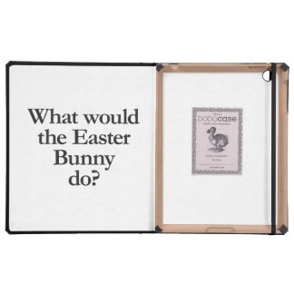 what would the easter bunny do iPad case