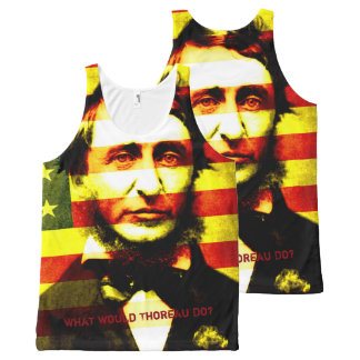 What Would Thoreau Do: 4th of July All-Over-Print Tank Top
