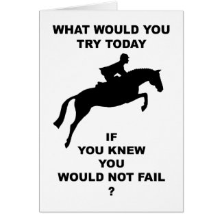 What Would You Do...Hunter Jumper Card
