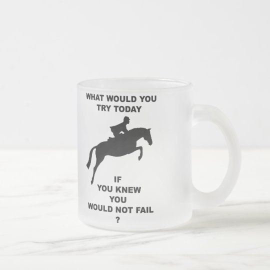 What Would You Do...Hunter Jumper Frosted Glass Coffee Mug