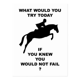 What Would You Do...Hunter Jumper Postcard