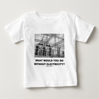 What Would You Do Without Electricity? (Physics) Baby T-Shirt