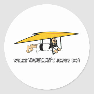 What wouldn't Jesus do? Classic Round Sticker