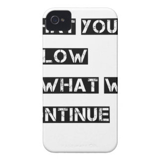 what you allow is what will continue iPhone 4 cover