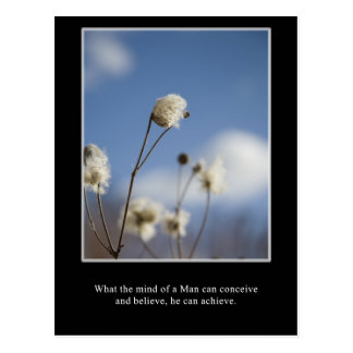 What you can conceive, you can achieve postcard