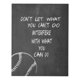 What You Can Do Baseball Motivational Panel Wall Art