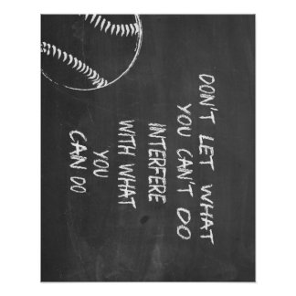 What You Can Do Baseball Motivational Poster