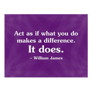 What you do can make a difference 2 postcard