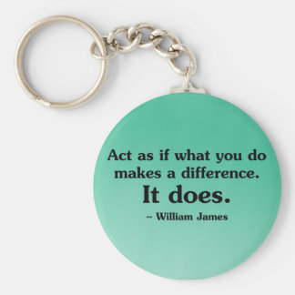 What you do can make a difference keychain