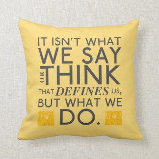 What You Do Defines You - Jane Austen Throw Pillow
