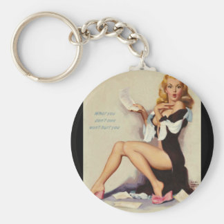 What You Don't Owe Won't Hurt You_1 Pin Up Art Keychain