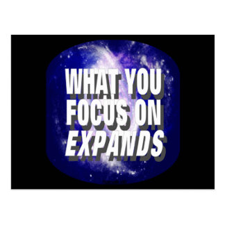 What You Focus On Expands Postcards