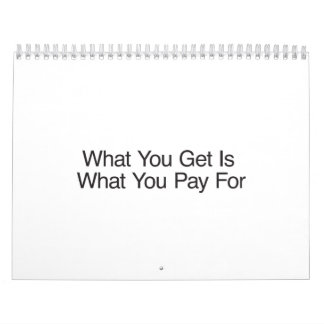 What You Get Is What You Pay For.ai Calendars