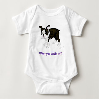 What you looking at? baby bodysuit