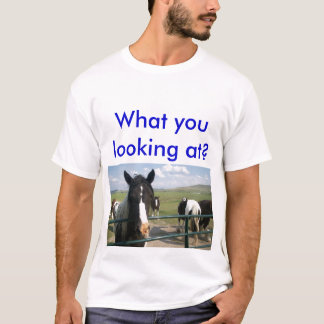 What you looking at? men's t-shirt