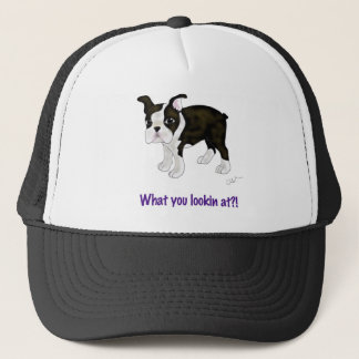 What you looking at? trucker hat