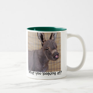 What you looking at? Two-Tone coffee mug