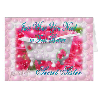 What you need Secret Sister-customize Greeting Card