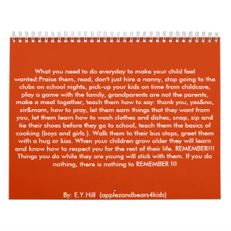 What you need to do everyday to make your child... calendars
