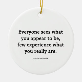 What you really ARE Ceramic Ornament