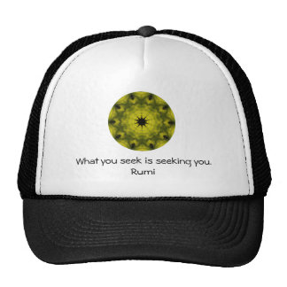 What you seek Rumi Wisdom Attraction Quotation Mesh Hat