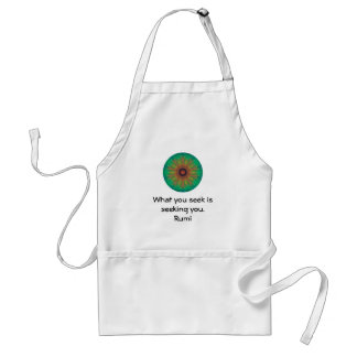 What you seek Rumi Wisdom Attraction Quotation Adult Apron