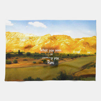 What you seek Rumi Wisdom Attraction Quotation Kitchen Towels