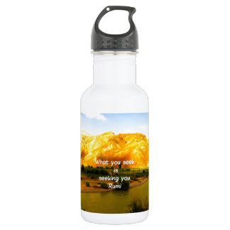 What you seek Rumi Wisdom Attraction Quotation 18oz Water Bottle